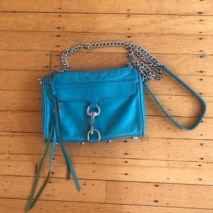 Rebecca Minkoff crossbody bag in teal/ turquoise